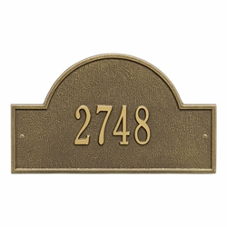 Arch Marker Standard Wall Address Plaque - One Line