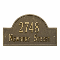 Whitehall Arch Marker Standard Wall Address Plaque - Two Line