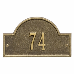 Whitehall Arch Marker Petite Wall Address Plaque - One Line