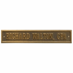 Whitehall Arch Extension Standard Wall Address Plaque - One Line