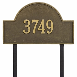 Whitehall Arch Marker Estate Lawn Address Plaque - One Line