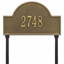 Whitehall Arch Marker Standard Lawn Address Plaque - One Line