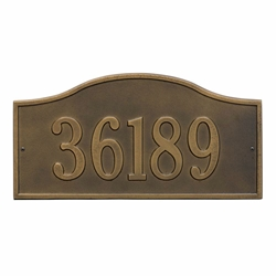 Whitehall Rolling Hills Plaques Grand Wall Address Plaque - One Line
