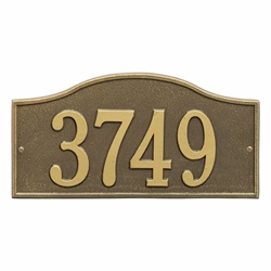Whitehall Rolling Hills Plaques Standard Wall Address Plaque - One Line