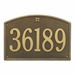 Whitehall Cape Charles Estate Wall Address Plaque - One Line
