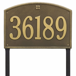 Whitehall Cape Charles Estate Lawn Address Plaque - One Line