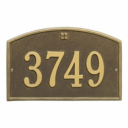 Whitehall Cape Charles Standard Wall Address Plaque - One Line