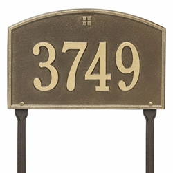 Whitehall Cape Charles Standard Lawn Address Plaque - One Line