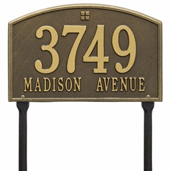 Whitehall Cape Charles Standard Lawn Address Plaque - Two Line