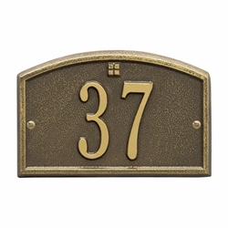 Whitehall Cape Charles Petite Wall Address Plaque - One Line