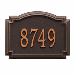 Whitehall Williamsburg Standard Wall Address Plaque - One Line