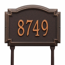Whitehall Williamsburg Standard Lawn Address Plaque - One Line
