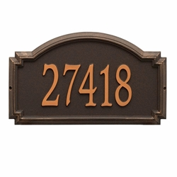 Whitehall Williamsburg Estate Wall Address Plaque - One Line