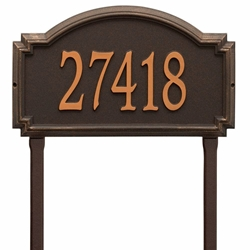 Whitehall Williamsburg Estate Lawn Address Plaque - One Line