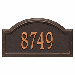 Whitehall Providence Arch Standard Wall Address Plaque - One Line