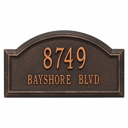 Whitehall Providence Arch Standard Wall Address Plaque - Two Line