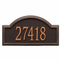 Whitehall Providence Arch Estate Wall Address Plaque - One Line
