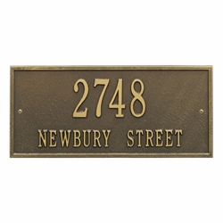 Whitehall Hartford Standard Wall Address Plaque - Two Line
