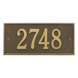 Whitehall Hartford Standard Wall Address Plaque - One Line