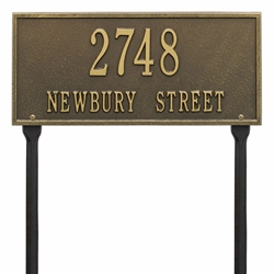 Whitehall Hartford Standard Lawn Address Plaque - Two Line