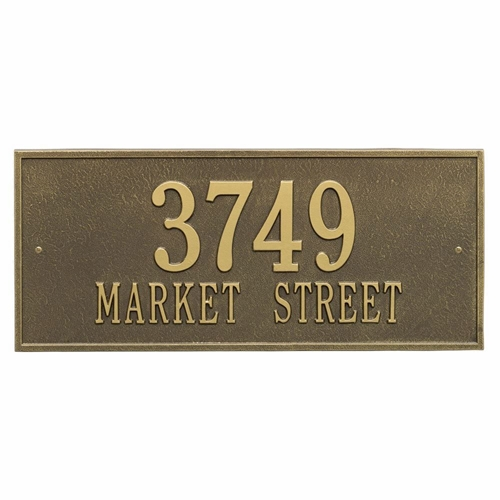 Whitehall Hartford Estate Wall Address Plaque - Two Line