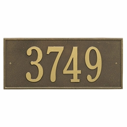 Whitehall Hartford Estate Wall Address Plaque - One Line