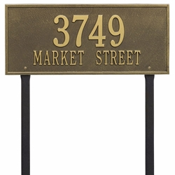 Whitehall Hartford Estate Lawn Address Plaque - Two Line