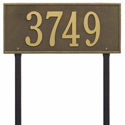 Whitehall Hartford Estate Lawn Address Plaque - One Line