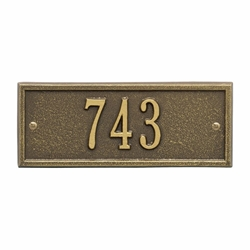 Whitehall Hartford Petite Wall Address Plaque - One Line