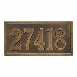 Whitehall Bismark Standard Wall Address Plaque - One Line
