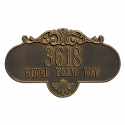 Whitehall Rochelle Grande Wall Address Plaque - Two Line