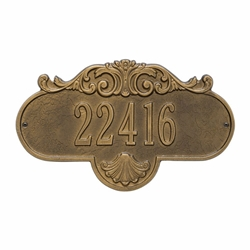 Whitehall Rochelle Standard Wall Address Plaque - One Line