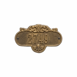 Whitehall Rochelle Petite Wall Address Plaque - One Line