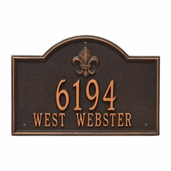 Whitehall Bayou Vista Standard Wall Address Plaque - Two Line