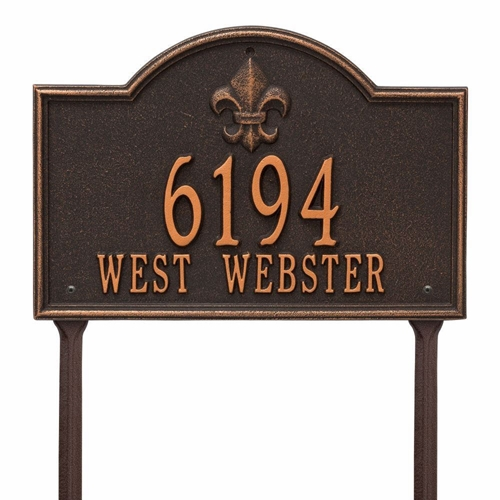 Whitehall Bayou Vista Standard Lawn Address Plaque - Two Line