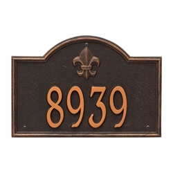 Whitehall Bayou Vista Standard Wall Address Plaque - One Line