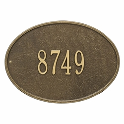 Whitehall Hawthorne Oval Standard Wall Address Plaque - One Line