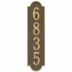 Whitehall Richmond Vertical Estate Wall Address Plaque - One Line