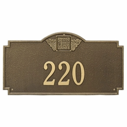 Whitehall Monogram Estate Wall Address Plaque - One Line