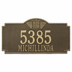 Whitehall Monogram Estate Wall Address Plaque - Two Line