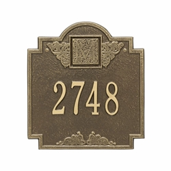 Whitehall Monogram Standard Wall Address Plaque - One Line
