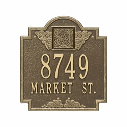 Whitehall Monogram Standard Wall Address Plaque - Two Line