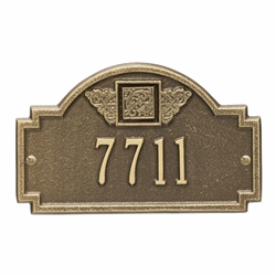 Whitehall Monogram Petite Wall Address Plaque - One Line