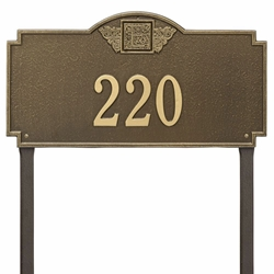 Whitehall Monogram Estate Lawn Address Plaque - One Line
