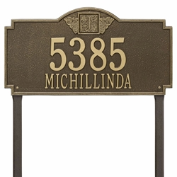 Whitehall Monogram Estate Lawn Address Plaque - Two Line