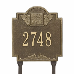 Whitehall Monogram Standard Lawn Address Plaque - One Line
