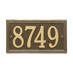 Whitehall Double Line Standard Wall Address Plaque - One Line