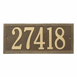 Whitehall Double Line Estate Wall Address Plaque - One Line