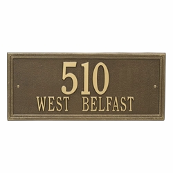 Whitehall Double Line Estate Wall Address Plaque - Two Line