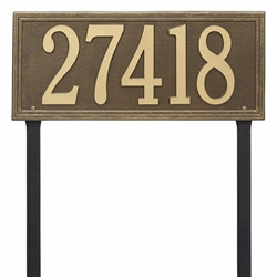 Whitehall Double Line Estate Lawn Address Plaque - One Line